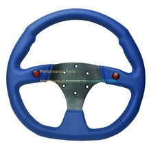 LYJ Blue Color PVC Auto Steering Wheel Game Steering Wheel Universal(China)