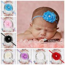 10pcs/lot new fashion Baby Pearl Headband hot with raw edges worn flowers with fine hair with hair of children Hair Accessories(China)