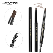 HEXZE Automatic Pro Eyebrow Pencil Liner Two Heads Waterproof Makeup Paint Eye Brow Pen Cosmetics Eye Liner Tools(China)