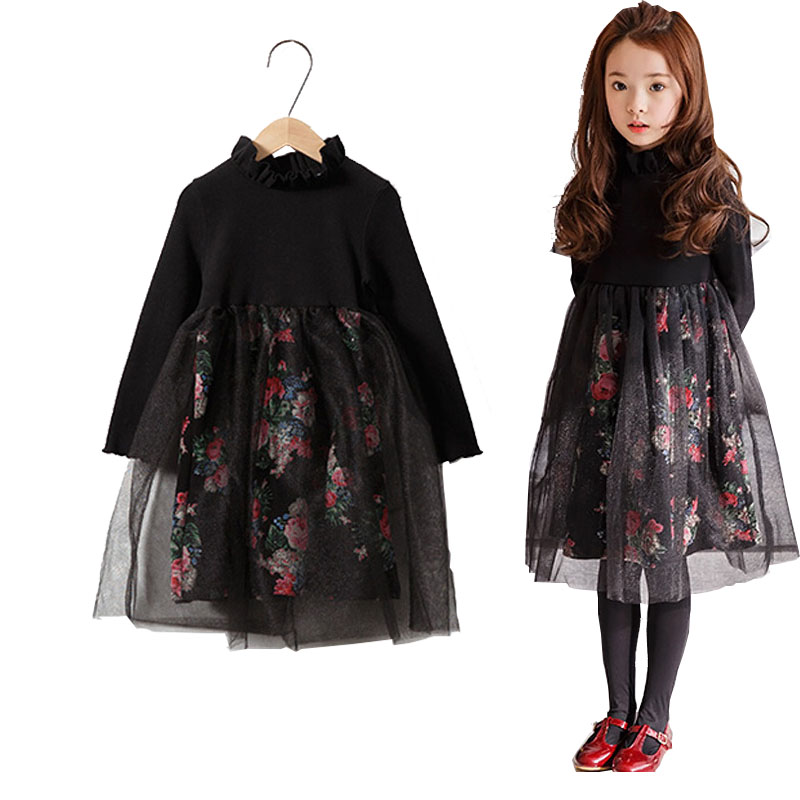 2017 Promotion New Autumn S Burst Big Girl Dresses In Cotton Princess Dress A Sells Childrens Clothing Girls Clothes <br>