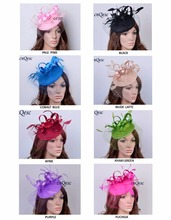 NEW design headband party fascinator/felt fascinator/sinamay fascinator with birdcage veilng satin loop,feathers.FREE SHIPPING(China)