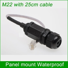rj45 panel mount waterproof outdoor cat5e cat6 shielded ethernet cable extension ap box lan network adapter female connector(China)