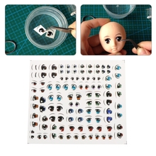 1 Sheet Anime Eyes Sticker Cartoon Figurine Doll Face Organ Paster Clay Decals 7 Patterns(China)