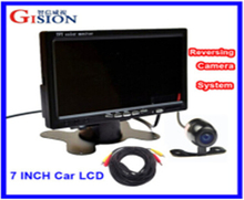 "Rear View camera Free shipping 7"" LCD Monitor Car Rear View Kit ,1CH/2ing System for Truck,Bus,School Bus.DC 12V Input."