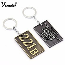 Fashion Sherlock Holmes Address Tag Keychain Famouse Novel House Number Key Chain Accessories Trinket Keyring Sleutelhanger Gift(China)