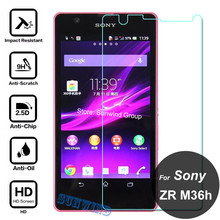 0.26mm Explosion-proof Tempered Glass Film For Sony Xperia ZR M36h C5502 C5503 LCD Screen Protector pelicula de vidro(China)