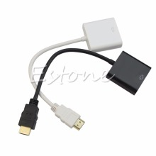 High Definition Multimedia Interface VGA Male to Female Video Adapter Cord Converter Cable 1080P Chipset For PC(China)