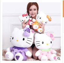 STuffed animal fruit hello kitty plush toy soft cat Toy throw pillow,birthday gift w9400(China)