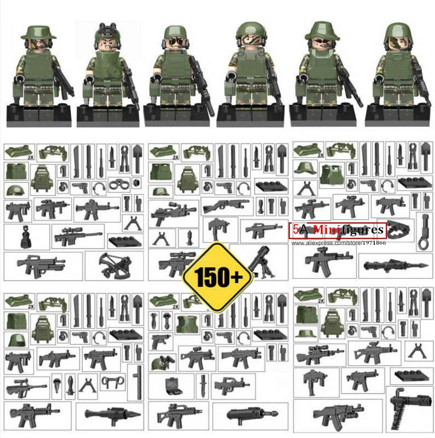 Military Series Swat team Police guns awp Weapons Pack Army   Brick Arms Weapon Blocks Best Children kids Toys<br><br>Aliexpress