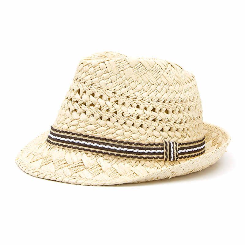 0703dd2cd18 Fashion Handwork Women Summer straw Sun hat Boho Beach Fedora hat Sunhat  Trilby Men Panama Hat