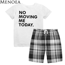 Menoea 2017 Brand New Summer Boy Clothing Set Fashion Style Cotton Kids Clothes Short Sleeve T-shirt + Pant Boy Clothes for 3-7Y