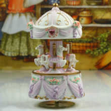 Purple carousel music box birthday gift sweet musica gifts free shipping