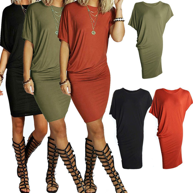 2018 Summer New Fashion Women Dress Casual Short Sleeve dresses Sexy Party Dress Party Packages Hip Pencil 1
