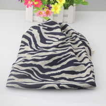2017 New Fashion Unisex Skullies Men Beanies Women Autumn Winter Hats Zebra Stripe Multipurpose Scarf Beanies Cap(China)