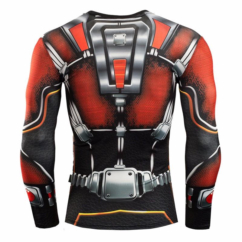 Marvel Gyms Clothing Fitness Compression Shirt Men Batman t-shirt men Long Sleeve 3D t shirt men Crossfit Tops tee shirt homme 19