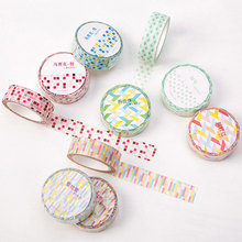 1 pcs 15 mm*8 m Kawaii Base colour element series DIY paper washi tape/masking tape/decorative adhesive tape/School Supplies