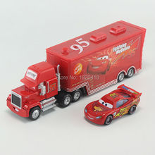 Pixar Cars No.95 & Mack Truck Diecast Toy Car For Children 1:55 Loose Brand New In Stock