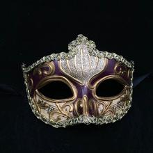 Masquerade Party Mask Venetian Italian Hand-Painted Art Collection Face Masks Wedding Festival Party Decoration Mask 25(China)