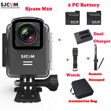 SJCAM M20 Wifi Outdoor Sports Action Camera 30M Waterproof Sj Cam DV+Remote Watch+Remote Monopod+2Battery+Dual Charger+Bag(China)