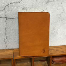 ALAVCHNV Italian style vegetable tanned leather retro leather notebook with a real seat belt carry notepad 15051(China)