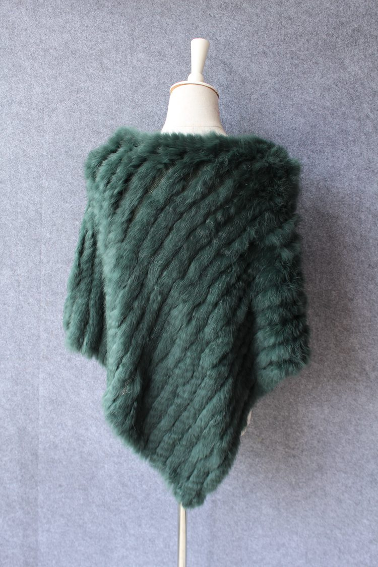 natural knitted rabbit fur scarf wraps (15)
