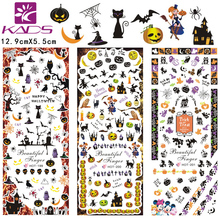 3sheet/set HOT199-201 new Halloween design Water decal Nail Sticker design Nail Art Decals Water Transfer sticker Tips(China)