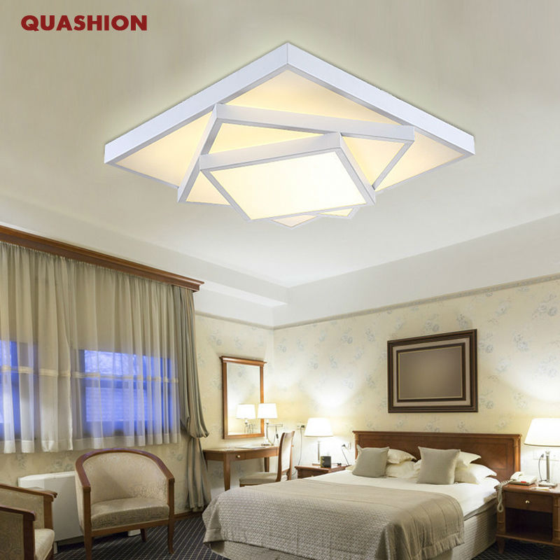 Modern geometric art Personality led ceiling lights lamp for living bedroom lustres de sala home indoor lighting dimmable abajur<br><br>Aliexpress