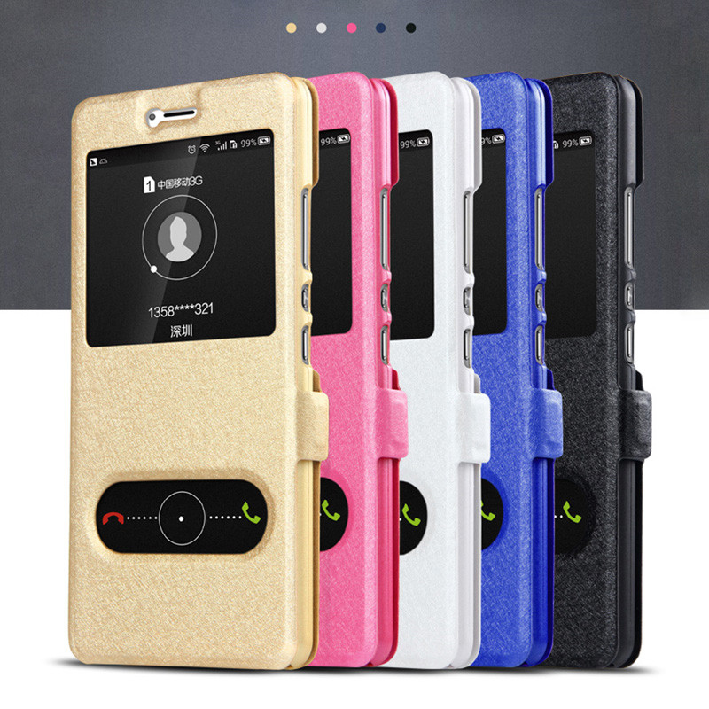 PU-Flip-Retro-Leather-Cases-For-Huawei-Honor-8-Case-Stand-Kickstand-Original-Window-View (4)