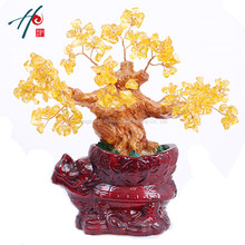 Free shopping natural crystal craft tree , the lucky feng shui tree as the mascot, bring in wealth and treasure fortune treegren(China)