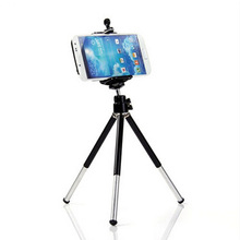 2016 Hot sale Mini 360 Degree Fashion Rotatable Stand Tripod Mount + Phone Holder Bracket Black Color For iPhone Hot