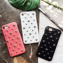 Mr.orange 2017 New Fashion Metal Stars Mobile Phone Cases for iPhone 6 6S 6plus 6Splus 7 7plus Hard Holster Phone Back Cover 4.7(China)