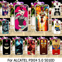 Soft TPU Silicone Case For Alcatel OneTouch Pixi 4 5.0 inch OT-5010 5010D 5010X 3G Version One Touch Pixi4 (5) 5010S 5010U Case
