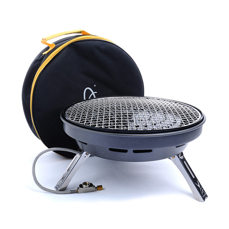 Picnic stove multifunctional gas stove, large power BBQ gas grill, frying pan portable cooking stove for 4-8 persons(China (Mainland))