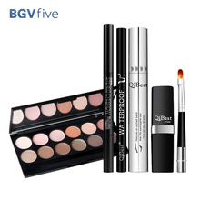2017 6pcs/set Eyebrow Pencil Eyeshadow Mascara Eyeliner Lipstick with Brush Makeup Set