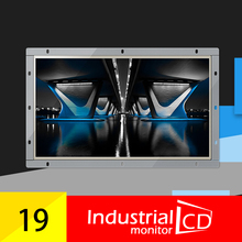 19 Inch Wide Resistive Touch Screen Monitor With  Open White Metal Frame And HDMI LCD Monitor
