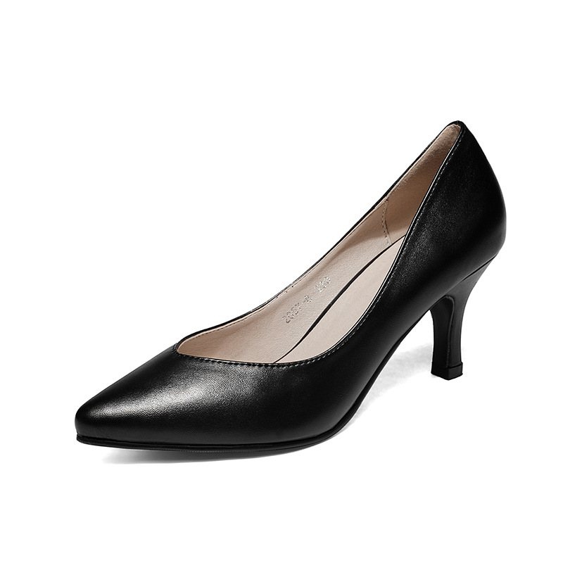 New fashion women shoes medium heel ankle strap pumps women mary jane shoes high heels women plus size 43 black work shoes<br>