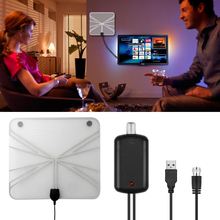 Professional Digital HD TV Amplified Indoor Digital Television Antenna with High Gain HDTV 50 Miles Reception Range Home Use(China)