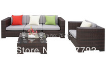 Outdoor Patio Wicker Furniture Luxury Deep Seating Sofa Set