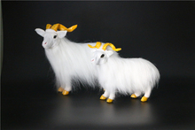 white sheep model,polyethylene&furry furs goat handicraft Figurines home decoration toy gift a2600(China)