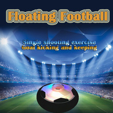 Colorful LED lights Children Funny Game Floating Football Play Sport Toys In/Outdoor Game Air Floating Fit Family and Kids Toy#N