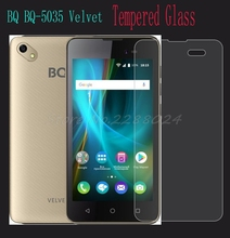 Ultra-thin High Quality Tempered Glass Film Explosion-proof Screen Protector For BQ BQ-5035 Velvet 5035 protective cover(China)