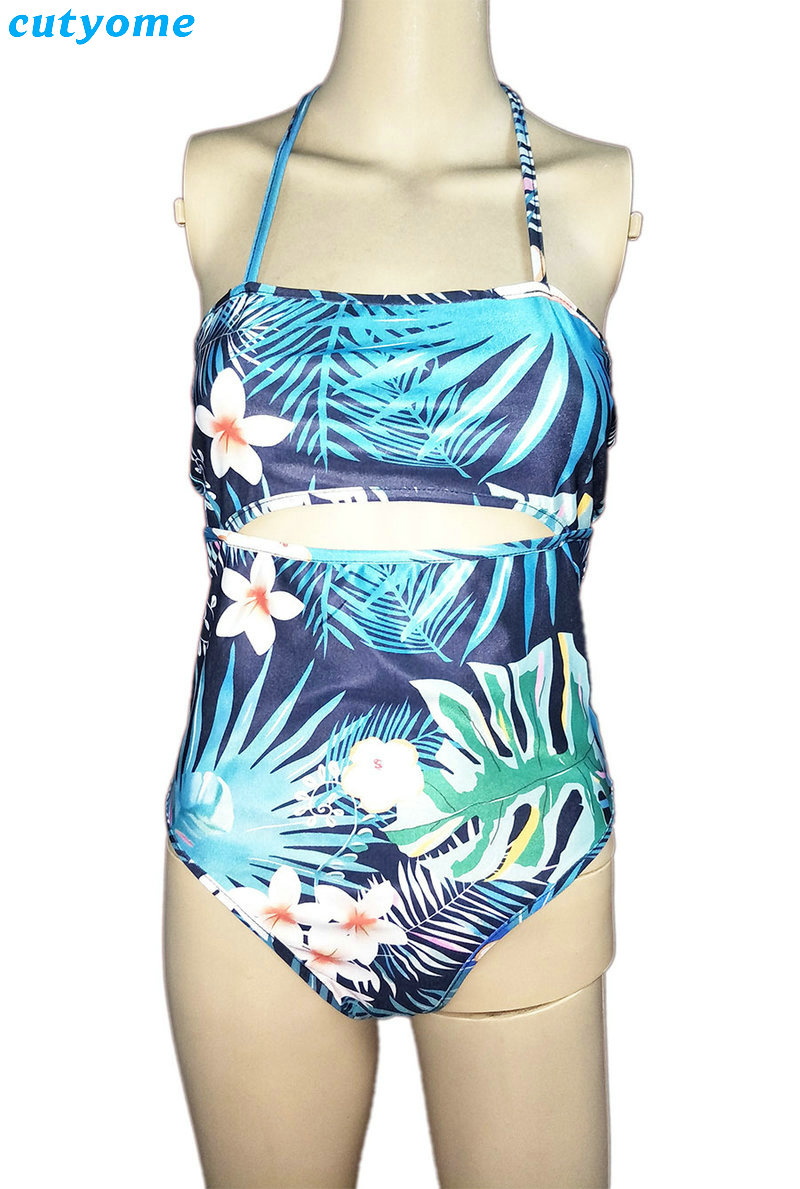 Family Matching Mother And Daughter Swimwear One-pieces Hollow Out Princess Kids Mommy And Me Beach Swimsuits Outfits Clothing (9)