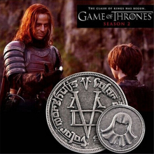 kokoer New fashion Game Of Thrones The coin A Song of Ice and Fire Faceless Man Coin with gift bag movie jewelry Coin badgesxl17