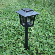 Waterproof outdoor solar mosquito lamp electronic drive midge trap light lawn lamp led mosquito dispeller manufacturer wholesale(China)