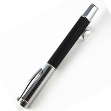 MONTE MOUNT black Wooden With Silver Trim Rollerball Pen