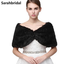 Accessories Winter Elegant Bridal Wraps Faux Fur Coat For Wedding Short Jacket Cotton Bolero Women Accessoire Mariage 17010