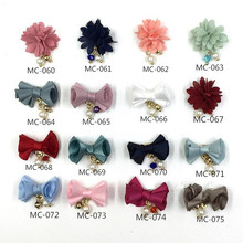 10pcs/lot The Latest Japanese Nail Jewelry Detachable Magnet Base Cotton Cloth Flower/bow Pendant Charm Magnet Attraction