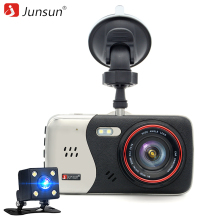 "Junsun 4.0"" IPS Car DVR camera dash cam automobile video recorder Full HD 1920*1080P Night vision Dual Lens camera DVRs recorder(China)"