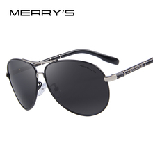 MERRY'S Design Men Classic Brand Aviation Sunglasses HD Polarized Aluminum Driving Luxury Sun glasses S'8766