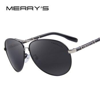 Merry's projeto homens marca clássica óculos hd óculos polarizados condução óculos de sol de luxo de alumínio de aviação s'8766